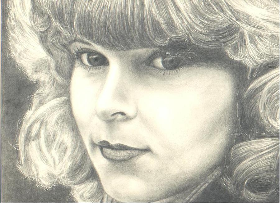 Portrait Drawing - My Daughter by Susan Saver