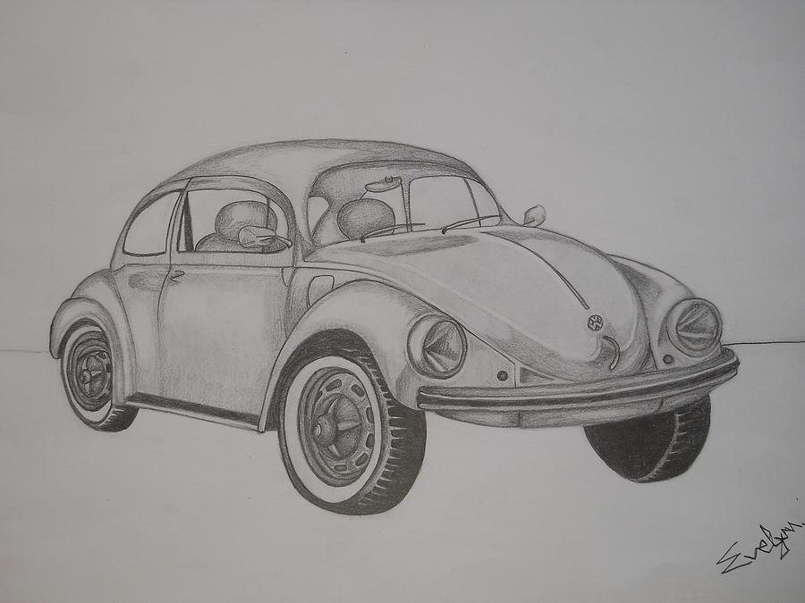 My Dream Car Drawing by Evelyn Cseh