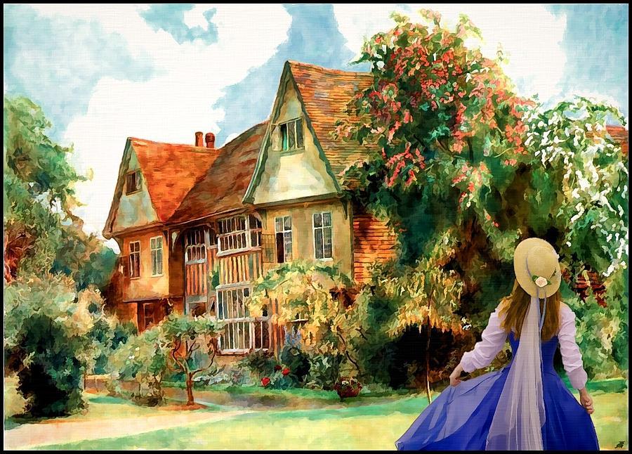 My English Country Garden Painting By Mary Morawska