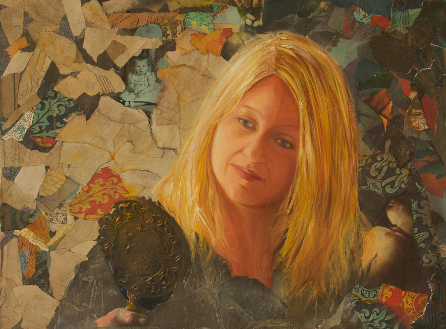Collage Painting - My Face At 50 by Pamela Ramey Tatum