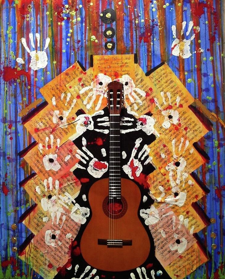Guitar Ceramic Art - My Favorite Things by Reginald Charles Adams