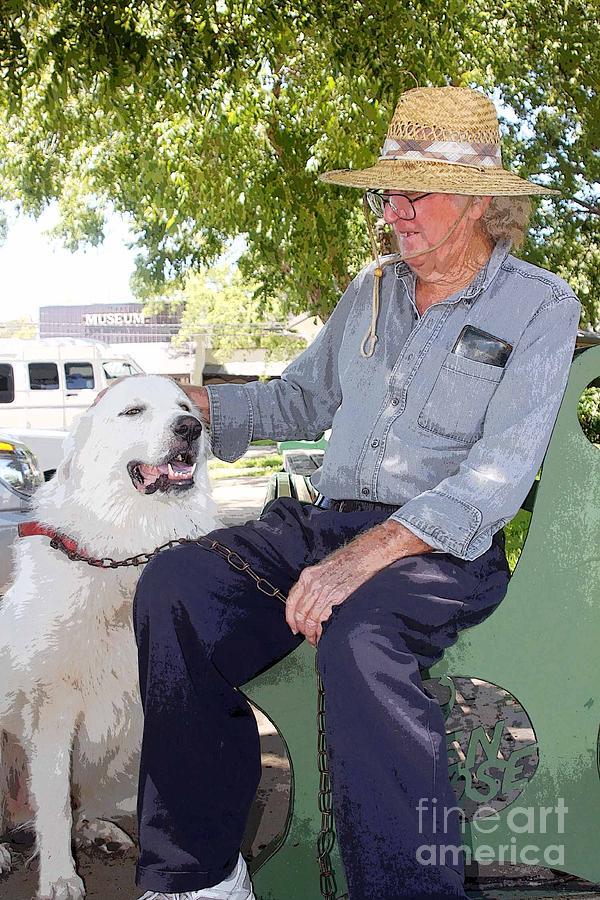 Dog Photograph - My Friend Bud by David Carter