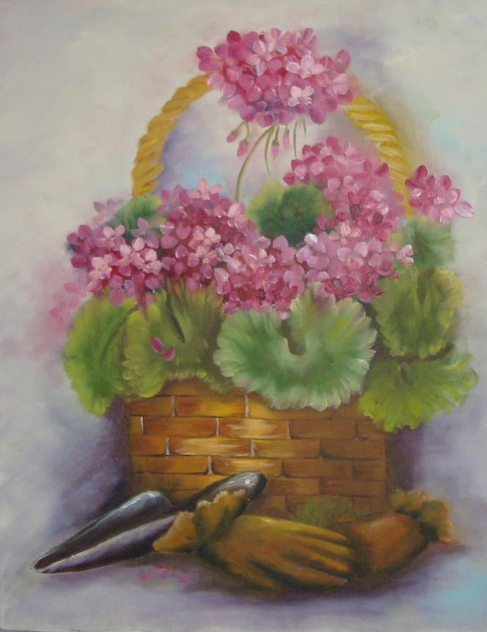 Still Life Painting - My Garden Prize by Bootsie Herder