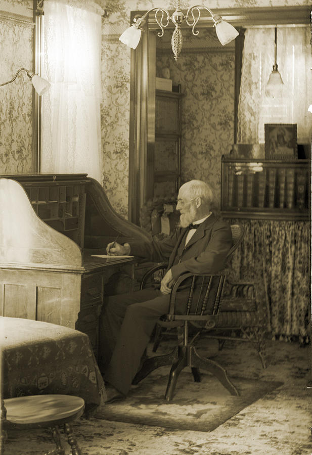 Desk Photograph - My Great-great-grandfather 1885 by Jan W Faul