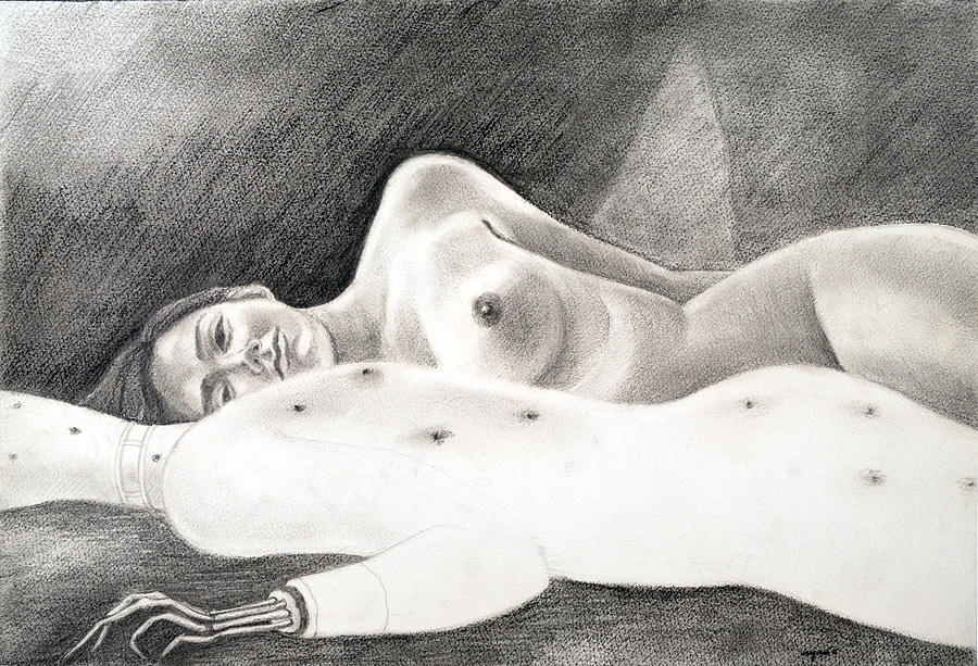My Life  Drawing - My Life 4 - Sleeping With........ by Ayan  Ghoshal