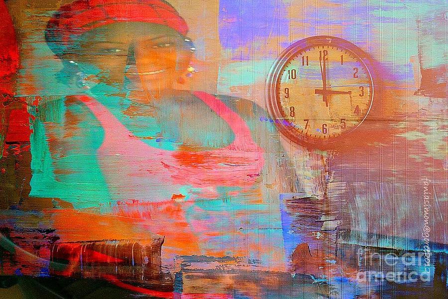 Fania Simon Mixed Media - My Life As Time Goes By by Fania Simon