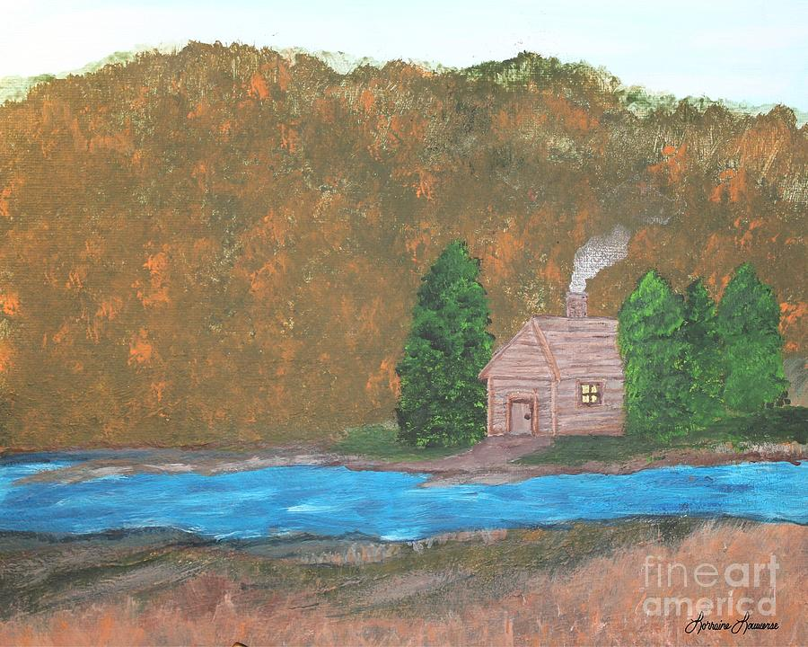 Landscape Painting - My Little Hide Away by Lorraine Louwerse