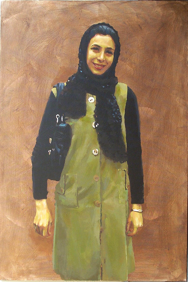 Portrait Painting - My Lovely Wifes Portrat by Mehrdad Sedghi