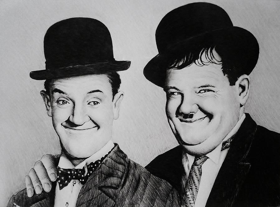 Laurel And Hardy Painting - My Pal by Andrew Read