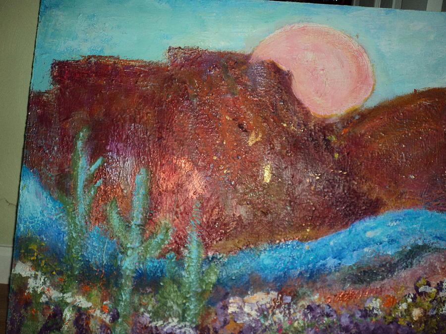 Unfinished Painting - My Southwestern Landscape Work In Progress by Anne-Elizabeth Whiteway