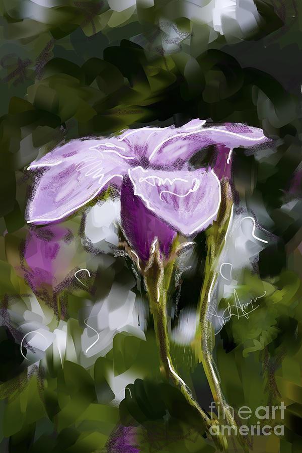 Digital Digital Art - My Summer Flower by Dinah Anaya