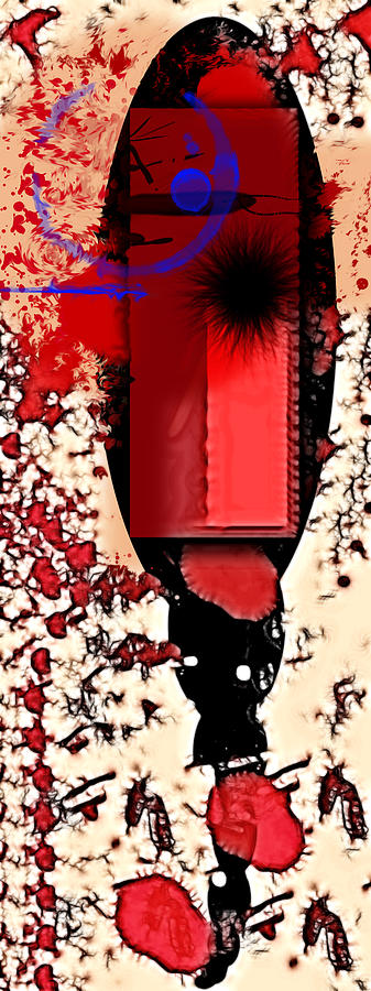 Red Digital Art - My Thoughts Hurt by Stelios Kleanthous