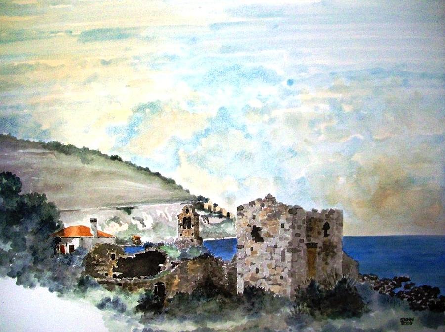House Painting - My Village In Greece by Samir Sokhn