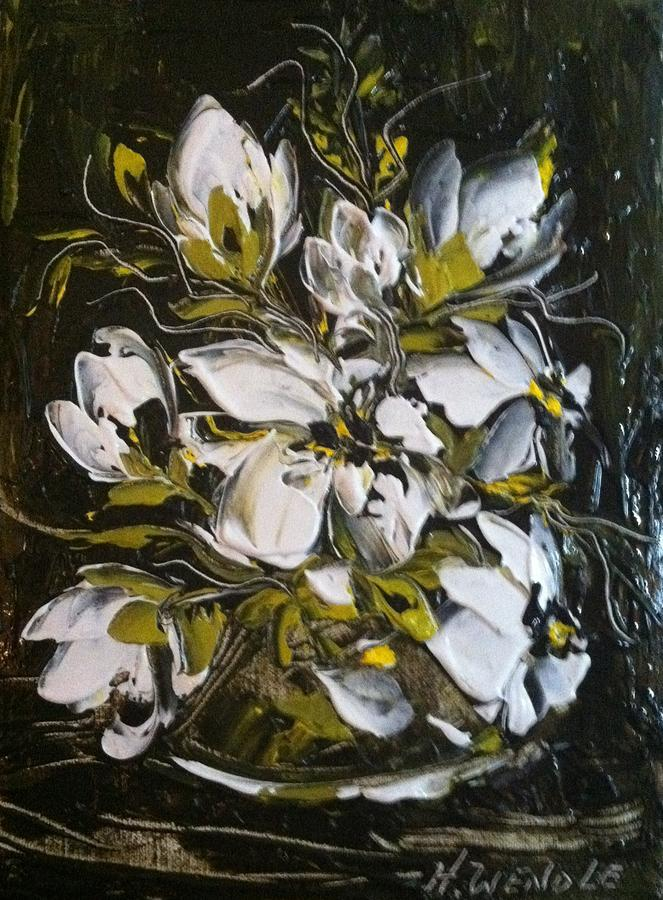 Floral Painting - My White Roses by Helen Wendle