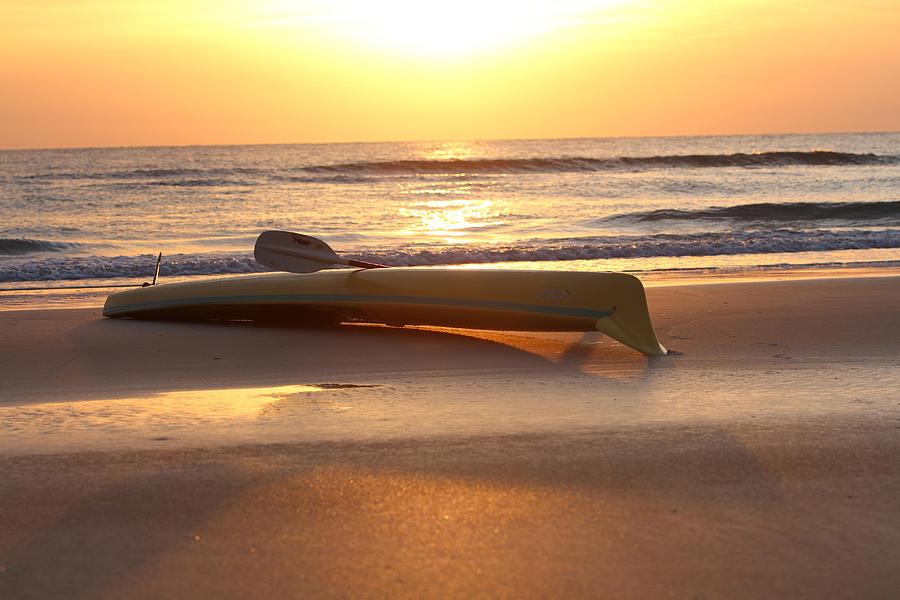 Sunrise Photograph - My Yellow Kayak by Jose Rodriguez