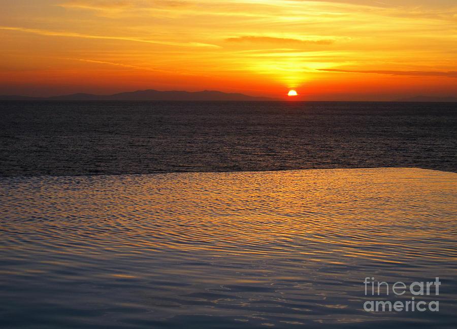 Mykonos Photograph - Mykonos Sunset by Leslie Leda