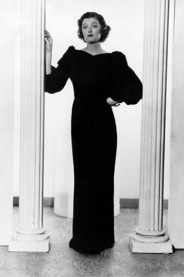 Column Photograph - Myrna Loy, Ca. 1935 by Everett