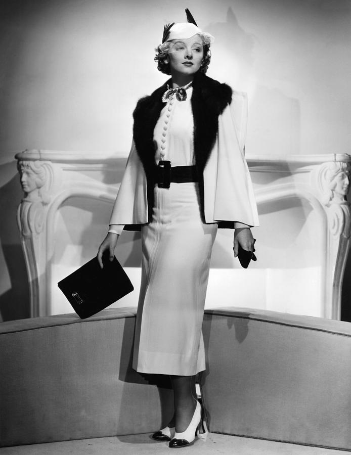 1930s Fashion Photograph - Myrna Loy, Mgm Portrait By Clarence by Everett