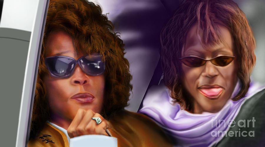 Whitney Houston Painting - Myself And I - Whitney by Reggie Duffie