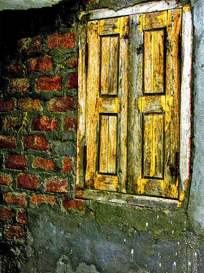 Window Photograph - Mysterious Window by Makarand Purohit