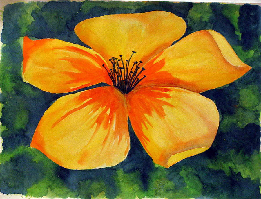 Mysterious yellow flower painting by debi singer watercolor painting painting mysterious yellow flower by debi singer mightylinksfo