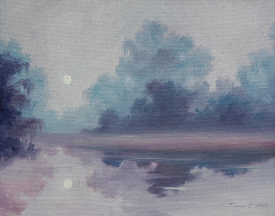 Mystic Moonlight Painting by James Christopher Hill
