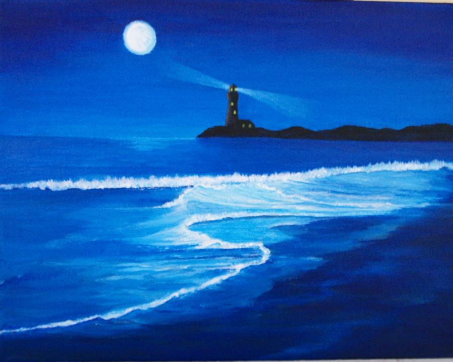 Ocean Painting - Mystic Shore by Linda Bennett