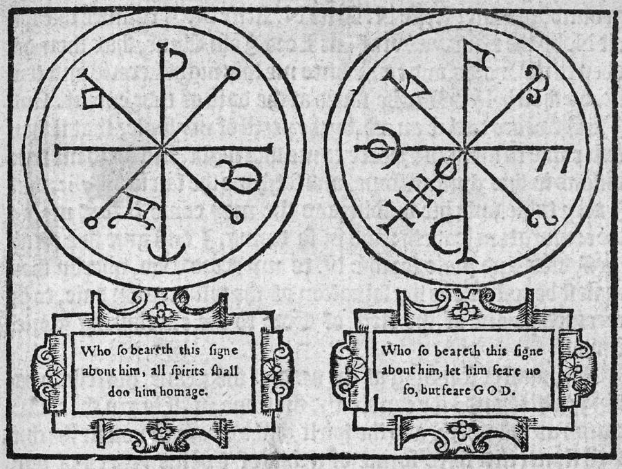 Diagram Photograph - Mystical Pendants, 16th Century by Middle Temple Library