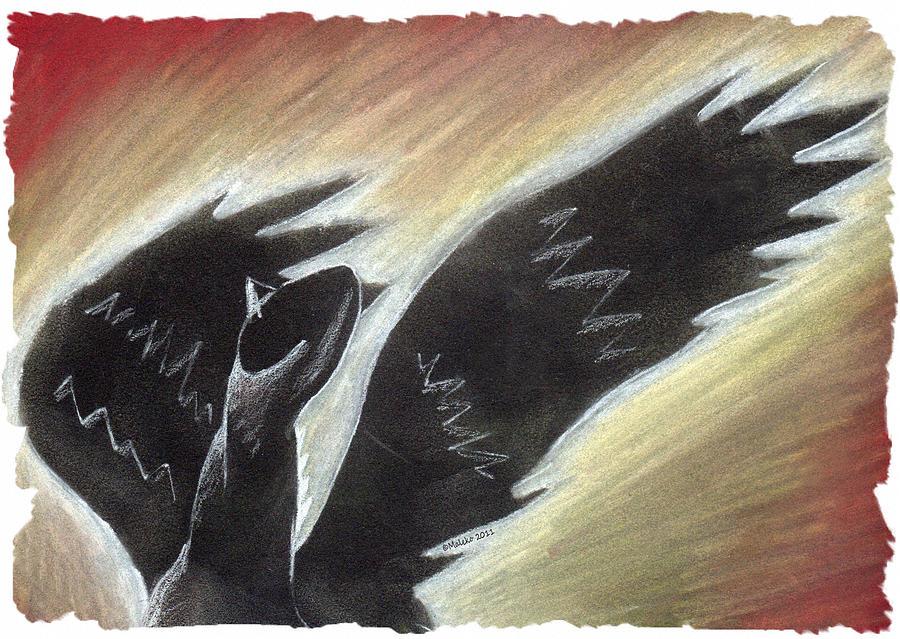 Horse Pastel - Myth Takes Flight by Mark Schutter