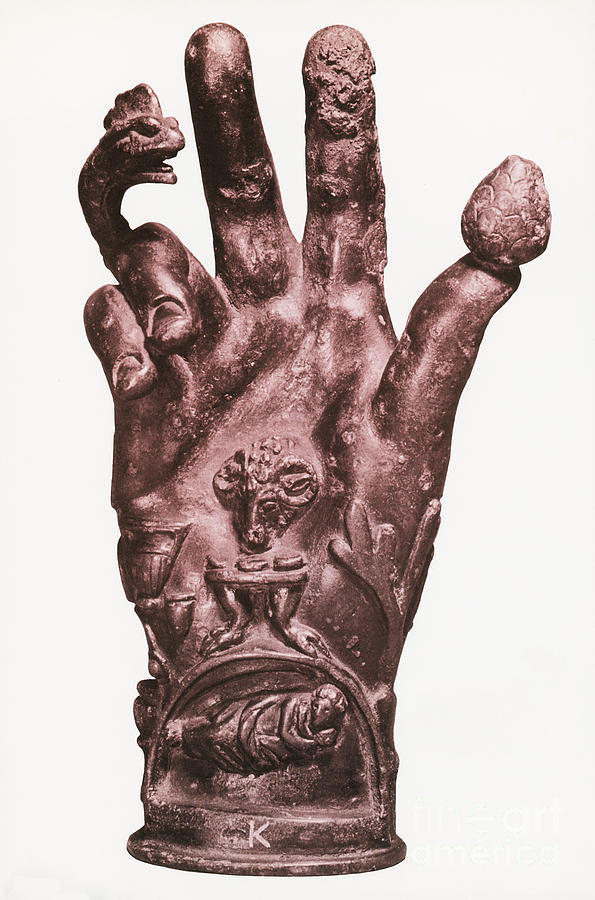 Religion Photograph - Mythological Hand by Photo Researchers