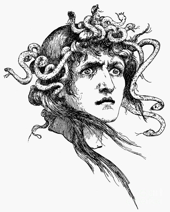 Ancient Photograph - Mythology: Medusa by Granger