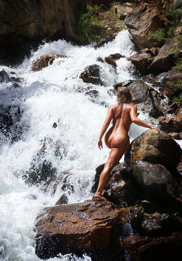 Pity, that Topless by a waterfall pity
