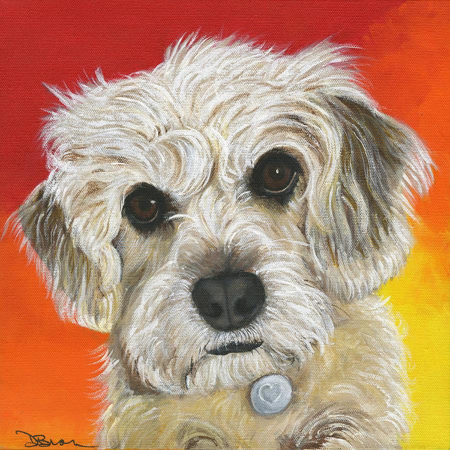 Dog Painting - Nala by Debbie Brown