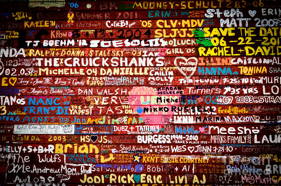 Door County Photograph - Names On A Barn Wall by Ever-Curious Photography