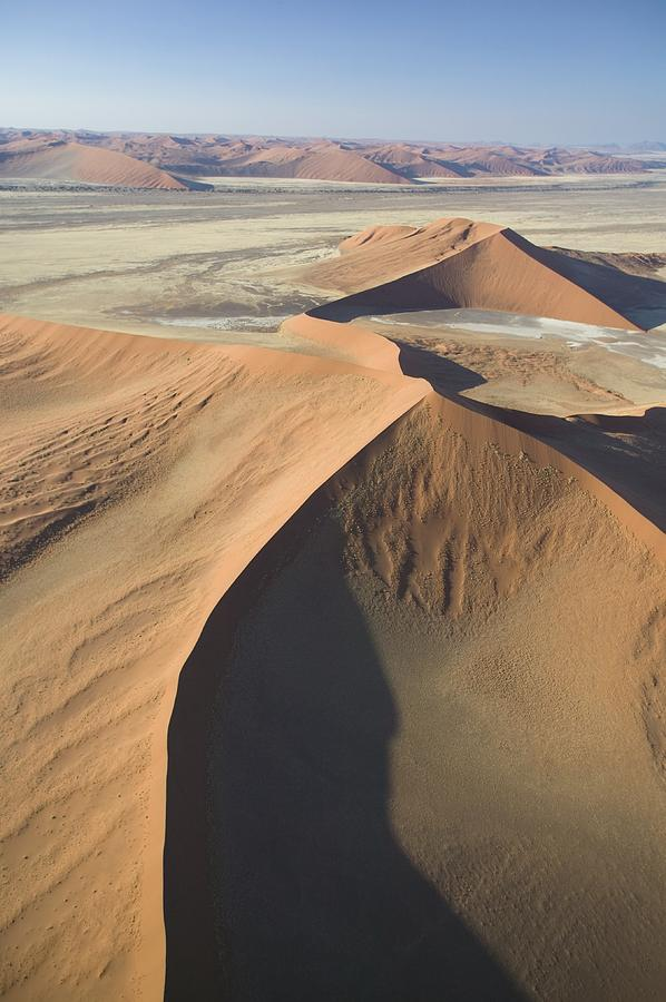 Desert; Landscape; Bird's Eye View; Remote; Wilderness; African; Arid; Dry; Empty; Hot; Dunes; Epic; Distance; Sand Dunes; Formation; Geological; Formations; Natural Phenomenon; Scenic; Plain; Plains; Mountains Painting - Namib Desert by Unknown