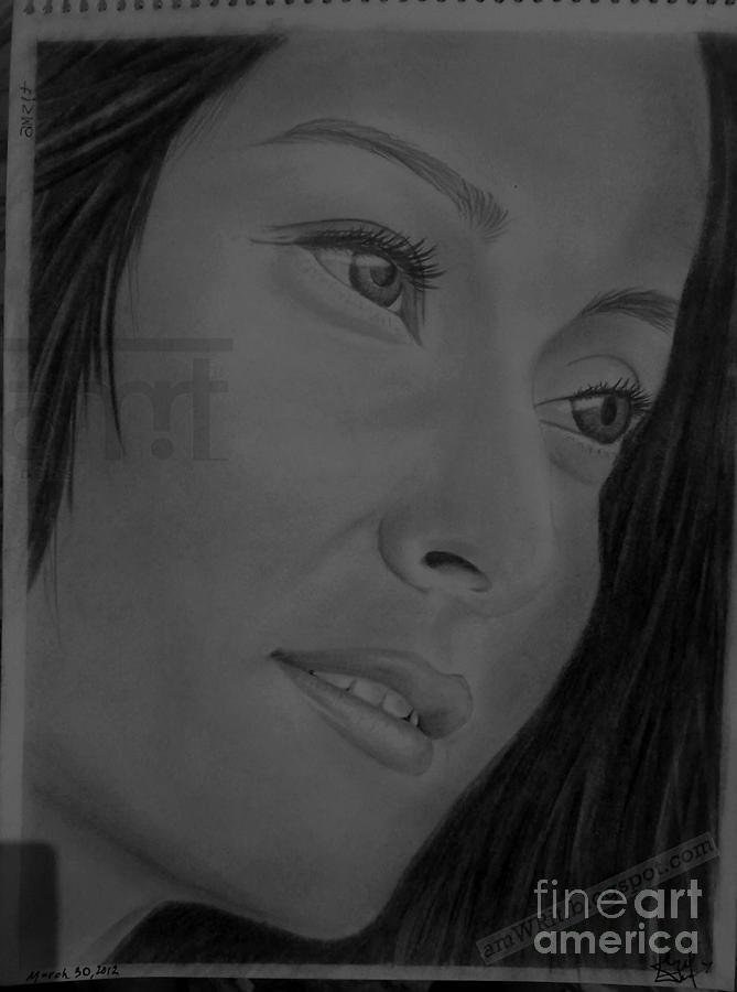 Namrata Shrestha-nepal Drawing by Amwrit Puri