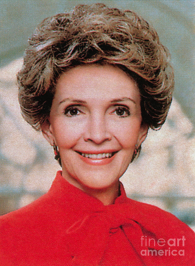 Historic Photograph - Nancy Reagan, 40th First Lady by Photo Researchers