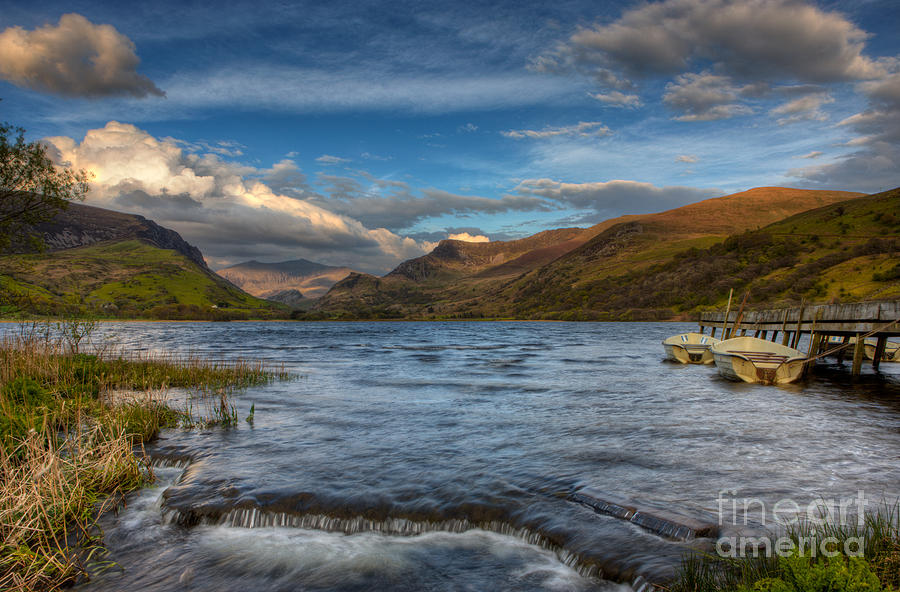 Snowdonia Photograph - Nantlle lake by Rory Trappe