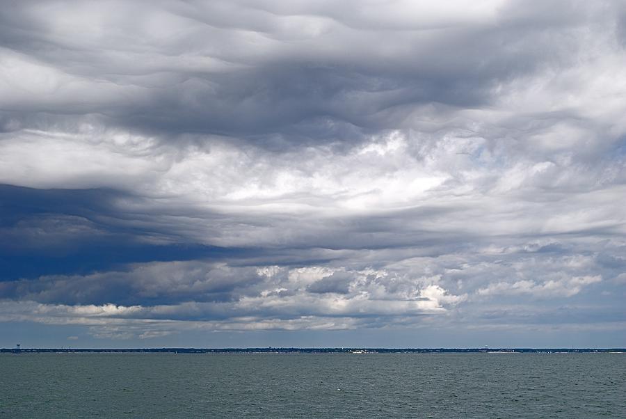 Ocean Photograph - Nantucket Sound Sky by Paul Donovan