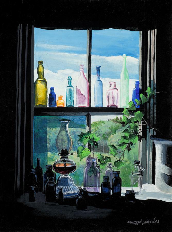 Naomis Window Painting by Richard Mordecki