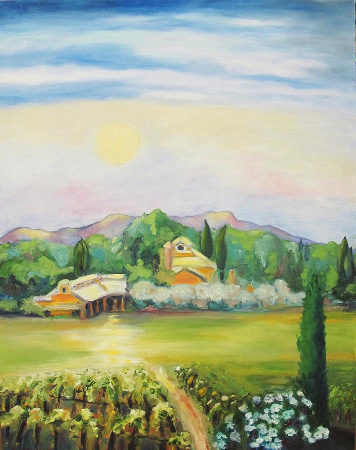 Nappa County Moon Painting - Napa Moon by Barbara Anna Knauf
