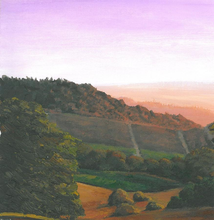 Napa Painting - Napa Orchards by DC Decker