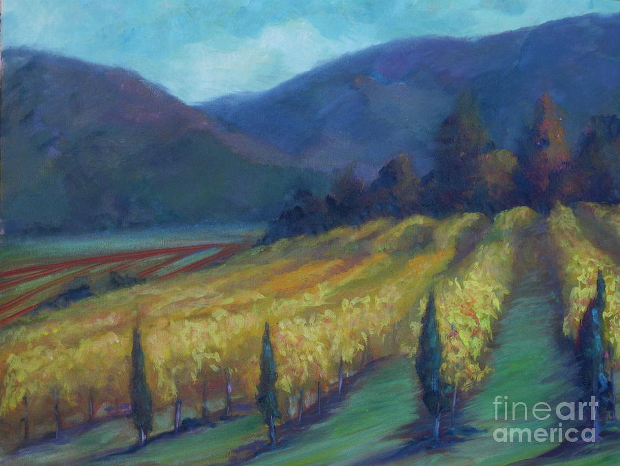 Napa Valley Winery Painting - Napa Valley View From The Castle by Deirdre Shibano