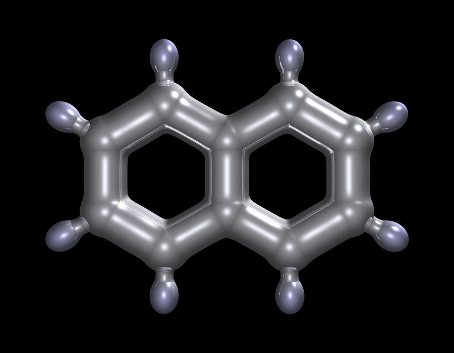 Naphthene Photograph - Naphthalene Molecule by Dr Mark J. Winter