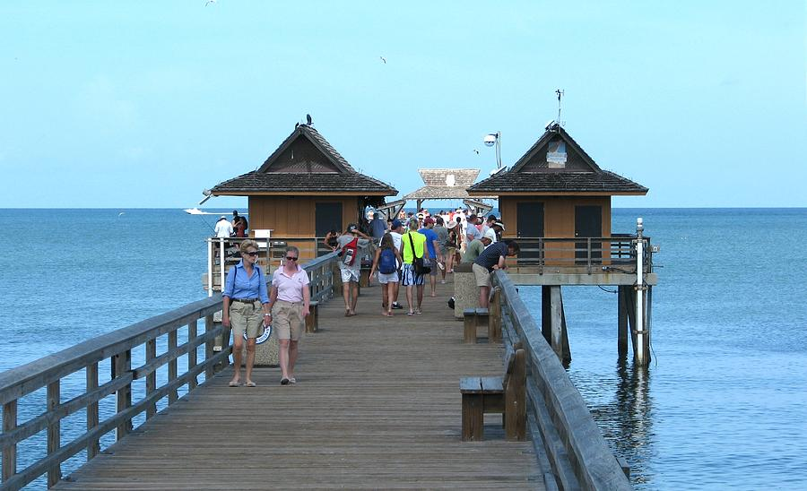 naples fishing pier photograph by keith stokes
