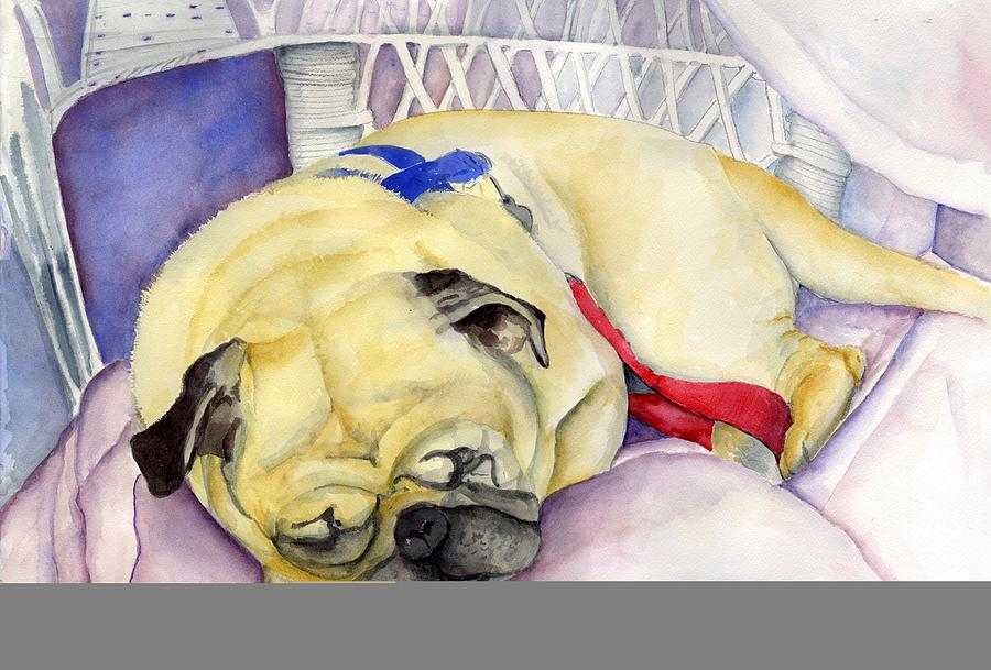 Dogs Painting - Naptime For Baden by Paul Cummings