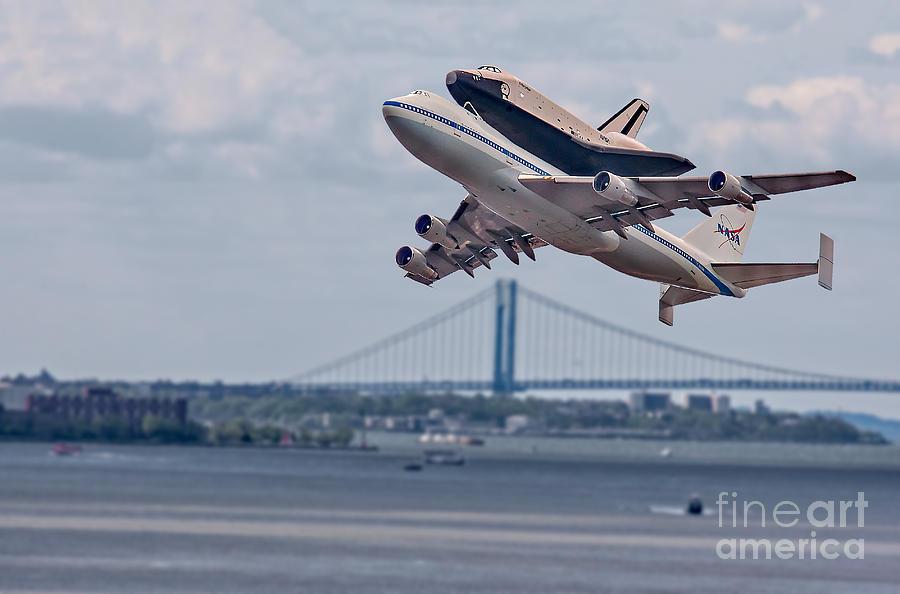 Airplane Photograph - Nasa Enterprise Space Shuttle by Susan Candelario