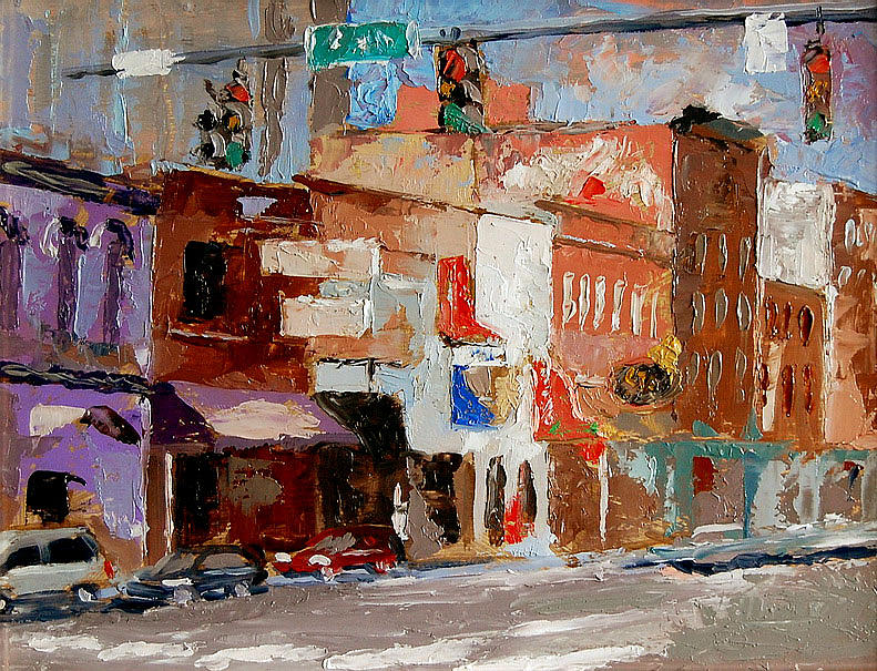 City Scape Painting - Nashville Broadway by Joe Tiszai