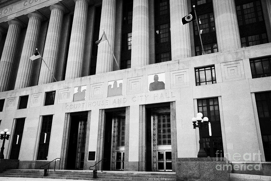 Nashville Photograph - Nashville City Hall Davidson County Public Building And Court House Tennessee Usa by Joe Fox