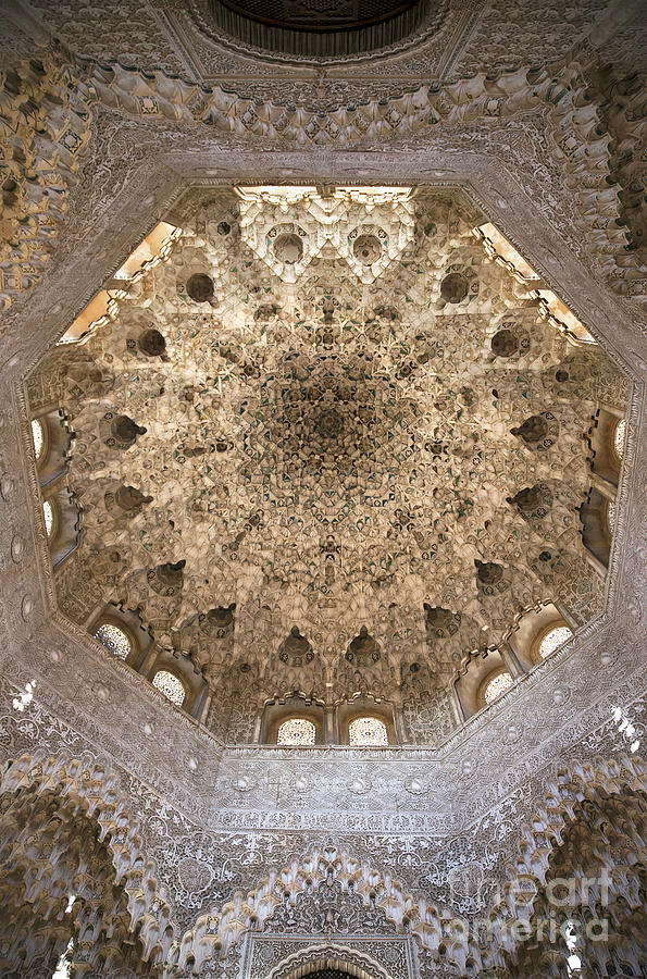 Alhambra Photograph - Nasrid Palace Ceiling by Jane Rix